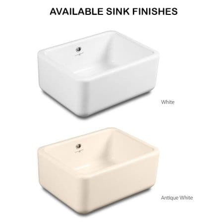 2480 / 6485 Perrin & Rowe Shaker 800 Ceramic Sink, With Optional Waste & Overflow Kit